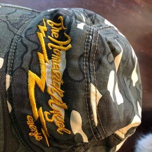 """03982a0d8 Womens camouflage hat """"Homesick Angel"""" Size 11"""